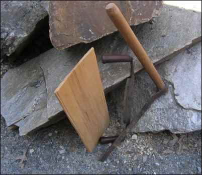 homemade shingle froe drawknife