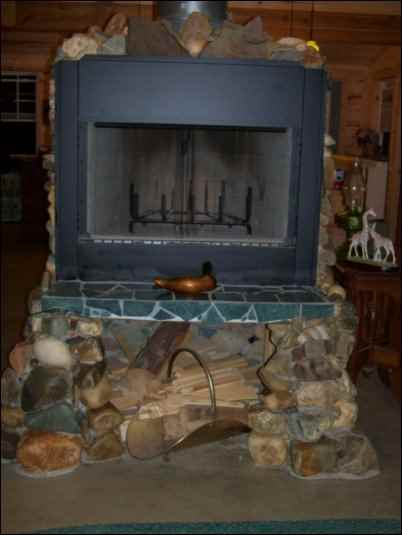 Building a Natural Stone Fireplace Surround