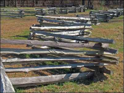 Split-rail fence