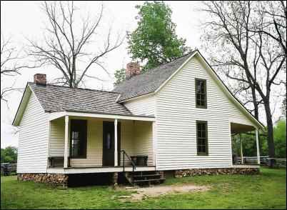 The Moses Carver Home, George Washington Carver, peanut man, homesteading