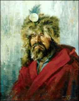 Painting of John Colter by Gerry Metz, The Mountain Men: America's Original Survivalists, homesteading, homesteaders, homestead