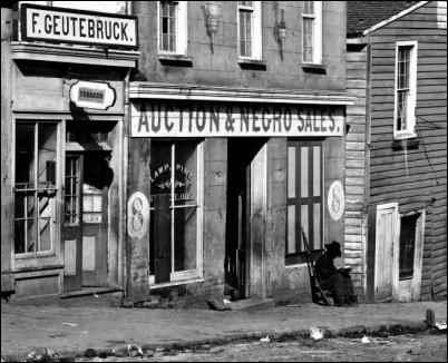 Slave Market in Atlanta, Georgia - 1864
