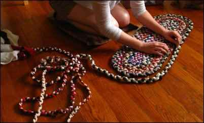 homemade braided rug, make money selling crafts, best selling crafts