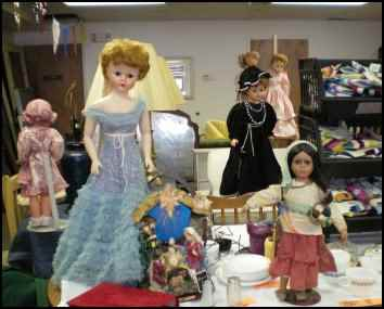 thrift store dolls and toys