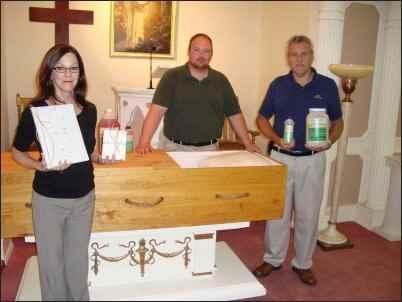 Green burial casket