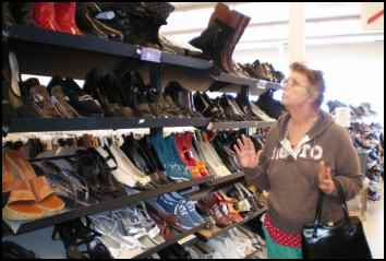 thrift shopping for shoes