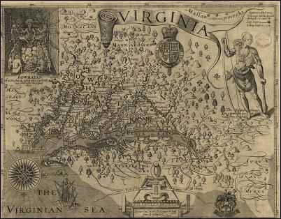 Smith's Map of Virginia