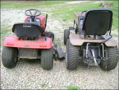 Note The Mower S Lightweight Rear Per Versus Tractor Heavy Construction And 3 Point Hitch Setup