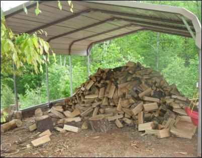 heating with a woodstove firewood